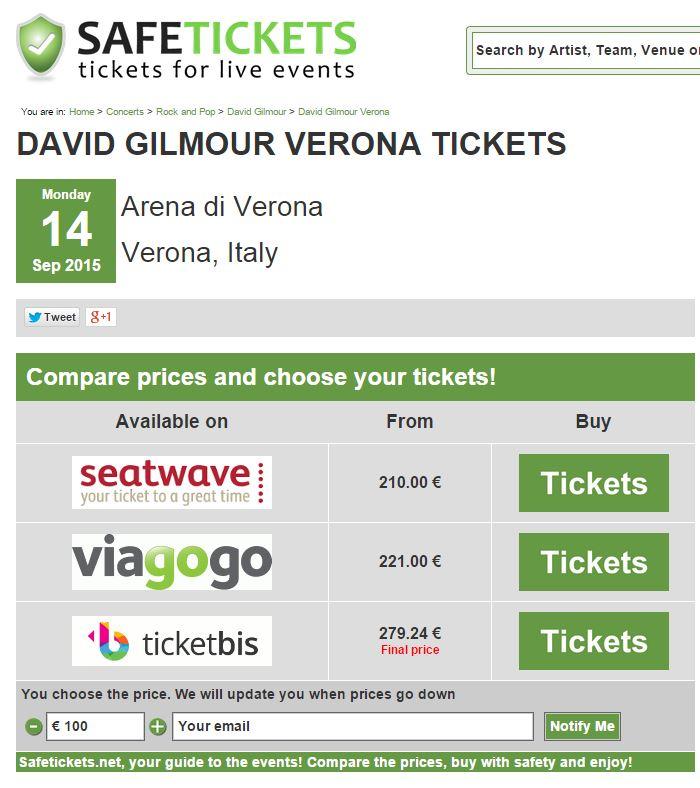 david gilmour biglietti 1