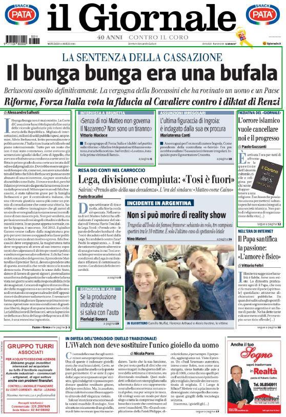 giornale con berlusconi