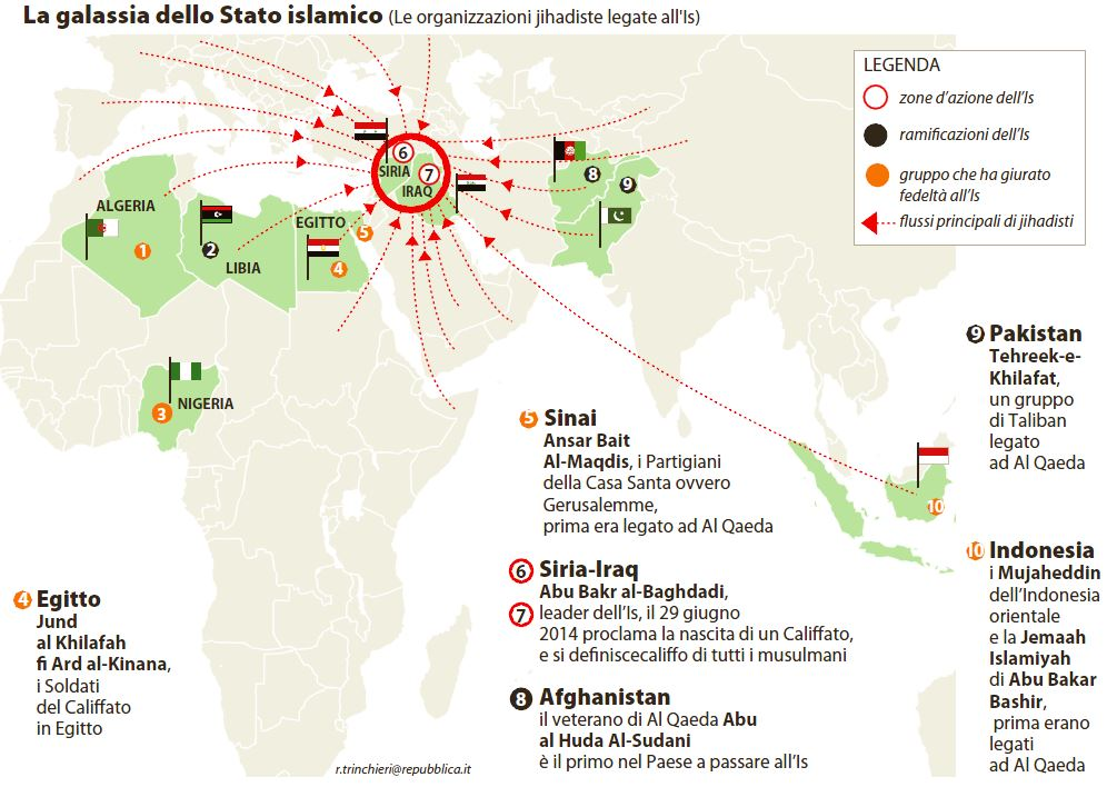 isis galassia stato islamico