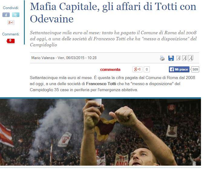 mafia capitale francesco totti 1