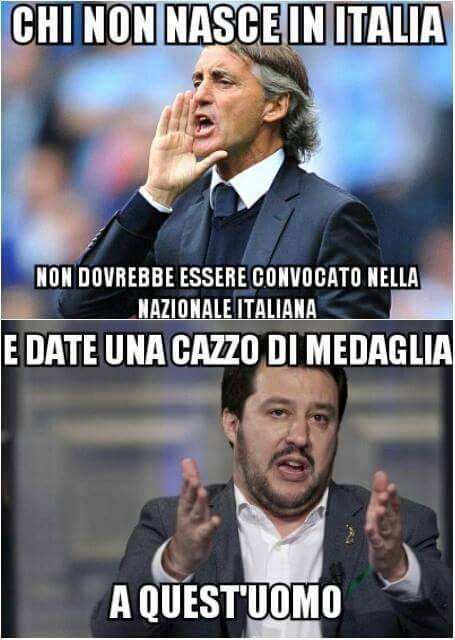 Un simpatico meme trovato sulla bacheca di Matteo Salvini (fonte: Facebook.com)