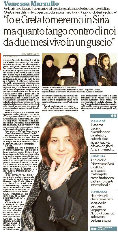 vanessa marzullo greta ramelli intervista