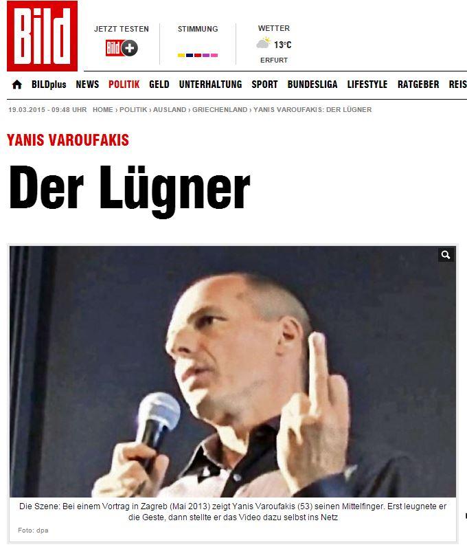 Il bugiardo (fonte: bild.de)