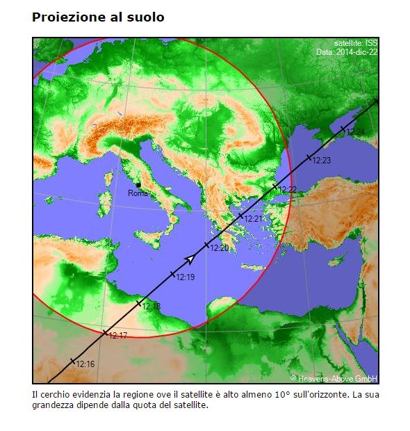 ISS passaggio 22 dicembre