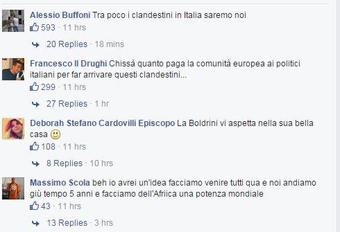 Salvini africa clandestini commenti