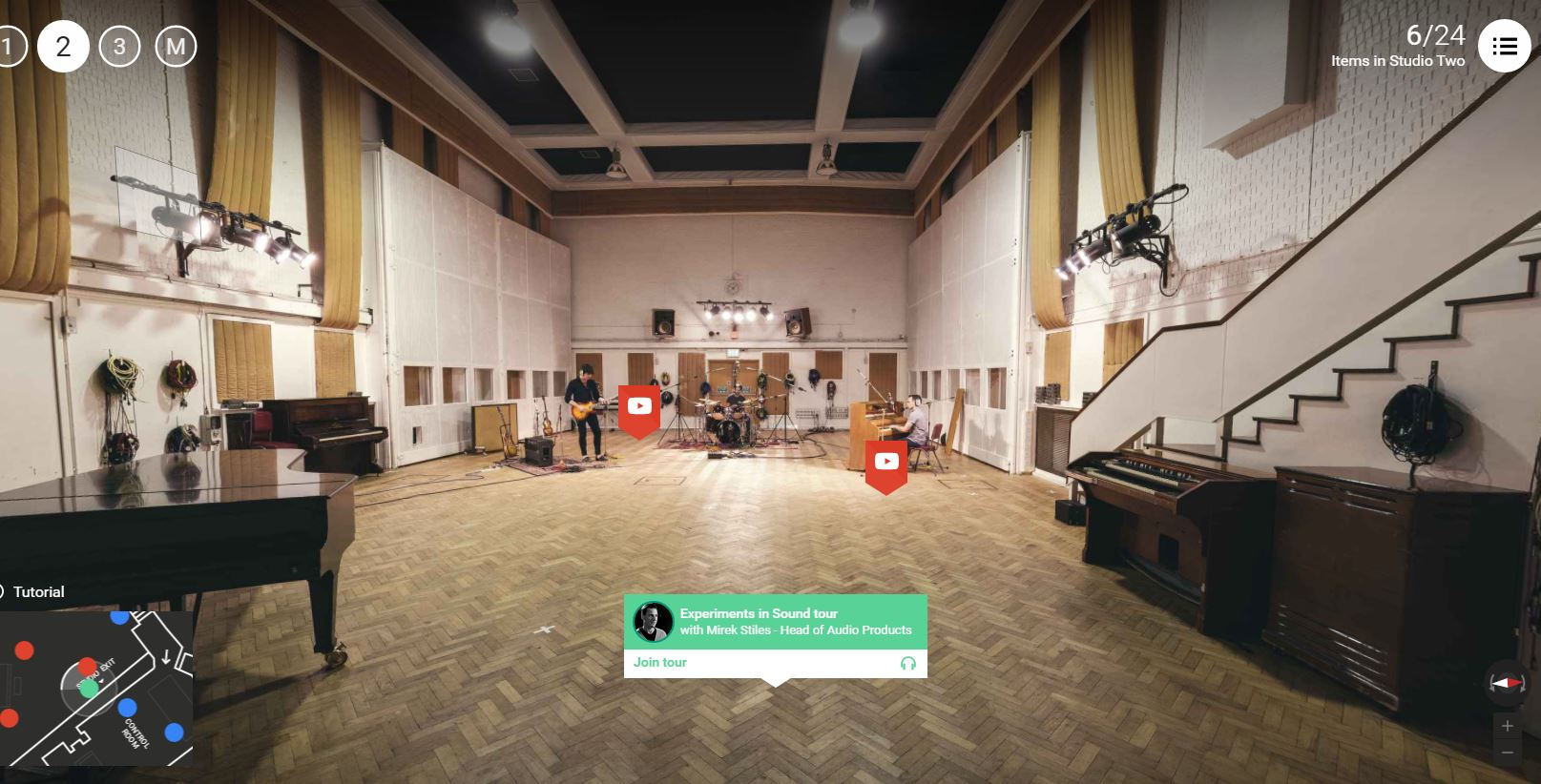 Lo Studio Two di Abbey Road