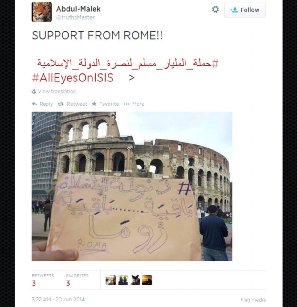 Il tweet originale datato 20 giugno 2014