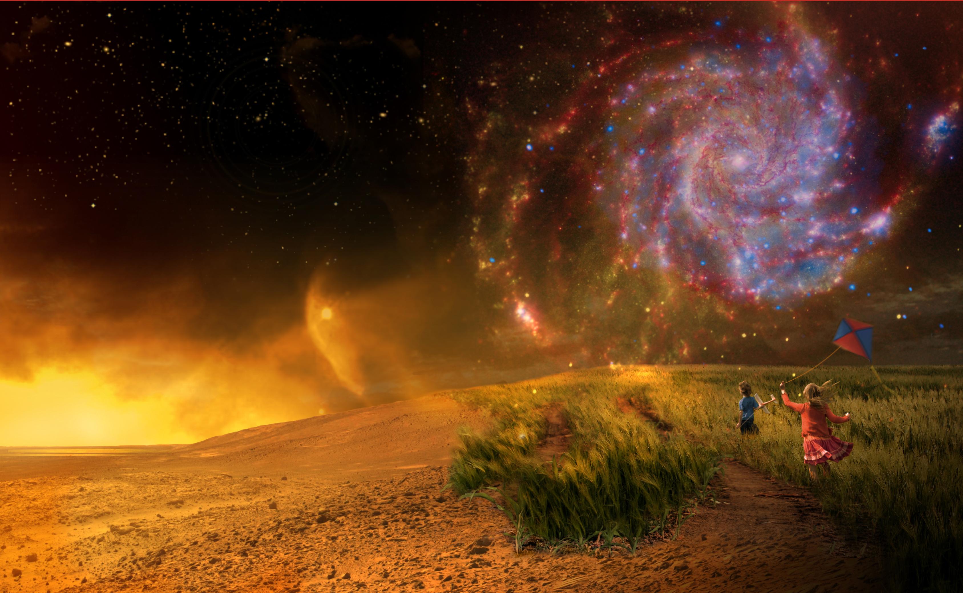 Il manifesto di NExSS, la collaborazione interdisciplinare è rappresentata dalla ricerca di coloro che studiano la Terra (in basso a dx) gli scienziati che si scoprono i pianeti extra solari (sinistra) e la scoperta di nuovi mondi nella galassia (in alto a dx) (fonte: Nasa.gov)