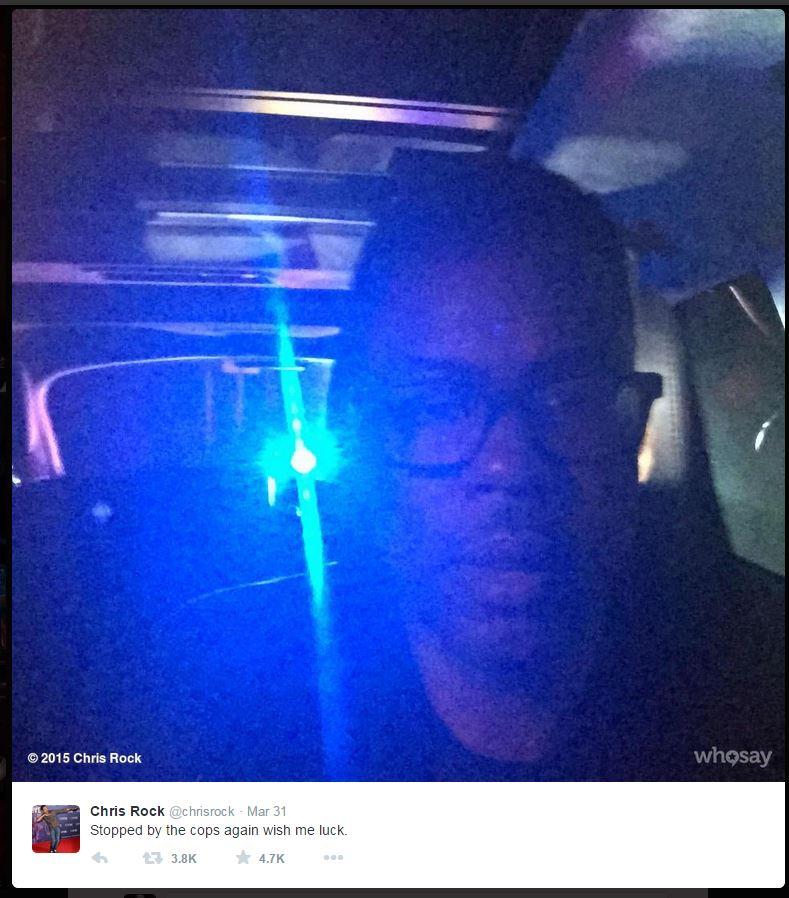 Chris Rock è stanco di essere fermato dalla polizia solo perché è afroamericano (fonte: Twitter.com)
