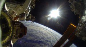 gopro stazione spaziale internazionale sole