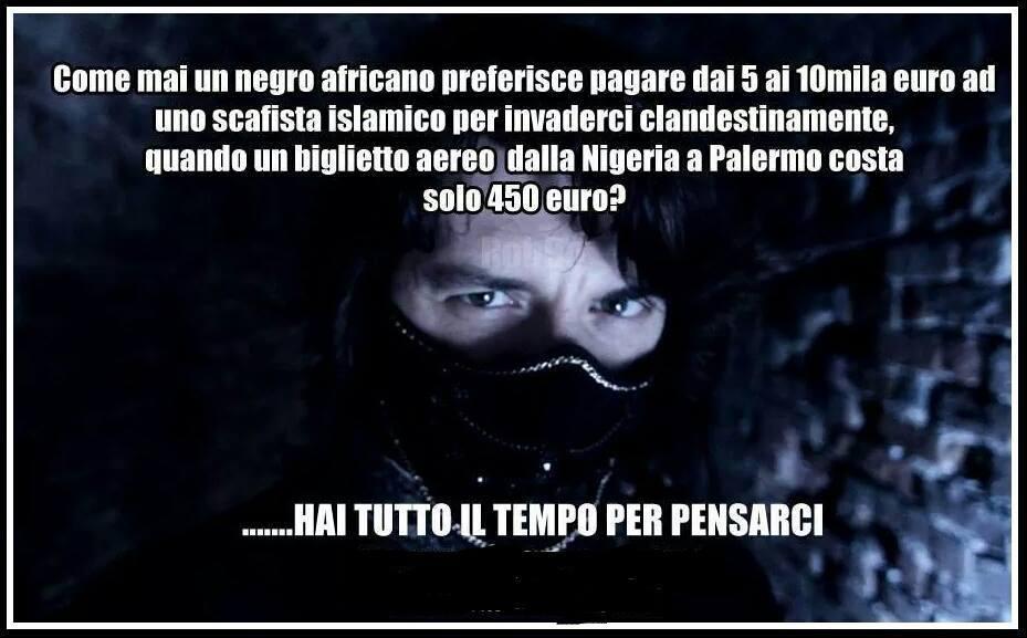 Uhm, sembra quasi il pensiero della Santanchè (fonte: https://www.facebook.com/NoAlPianoKalergiVadanoViaGliInmigrati)