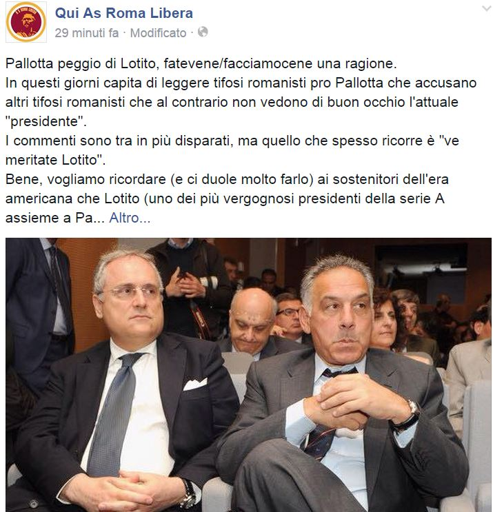 james pallotta claudio lotito