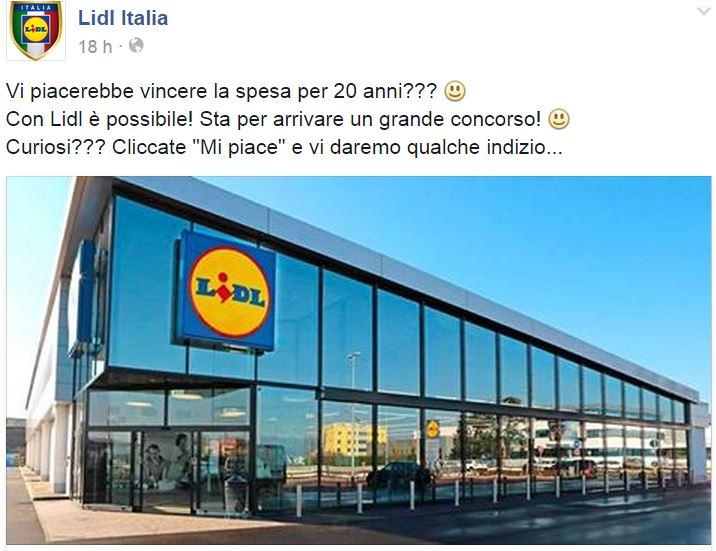 lidl italia concorso spesa 50 euro 20 anni