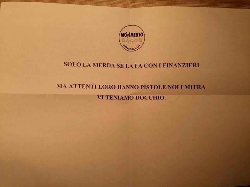 minacce candidato sindaco m5s bronte