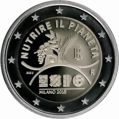 moneta 2 euro expo