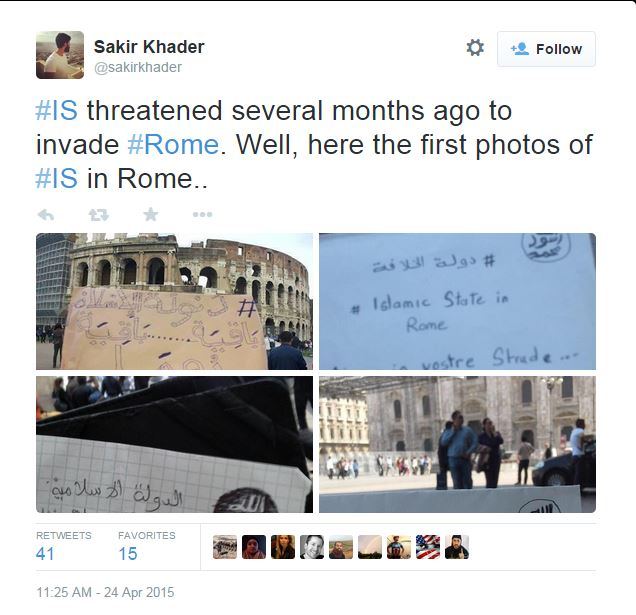 sakir khader isis roma minacce