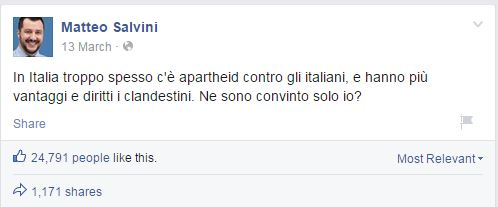 salvini apartheid immigrati