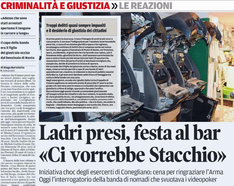 Ci vorrebbe uno Stacchio un po' dovunque (Fonte: La Tribuna di Treviso)