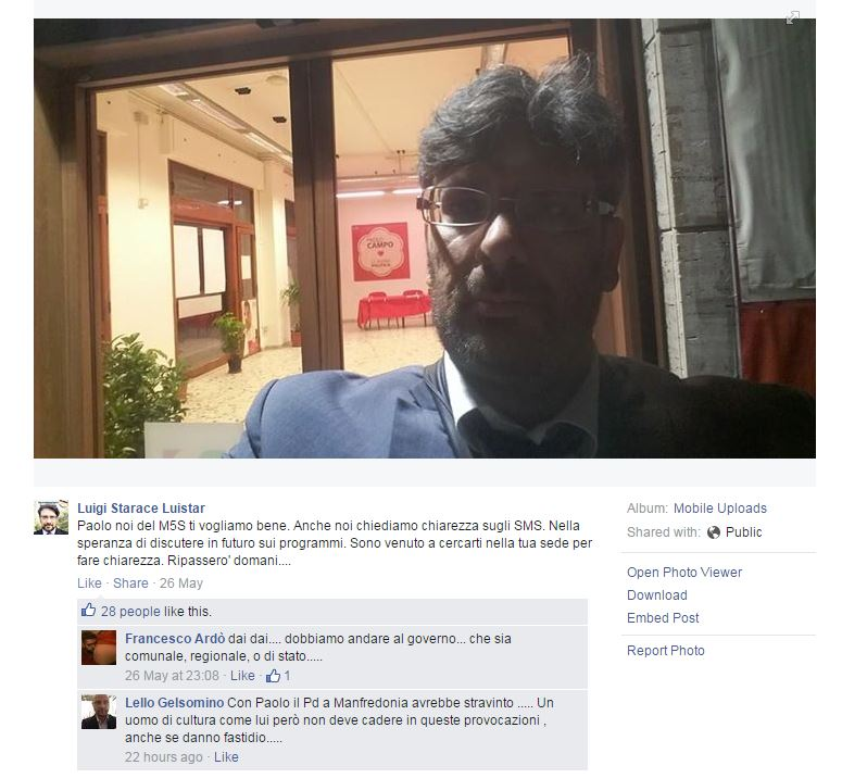 Luigi Starace Luistar M5S foggia