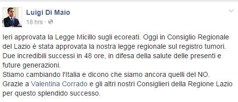 Luigi Di Maio inventa la Legge Micillo
