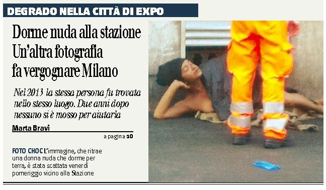 donna nuda stazione milano 1