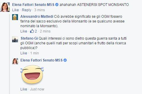 Gli Sticker di Facebook come forma di comunicazione parlamentare (Elena Fattori, Ed. Facebook/Casaleggio, 2015)