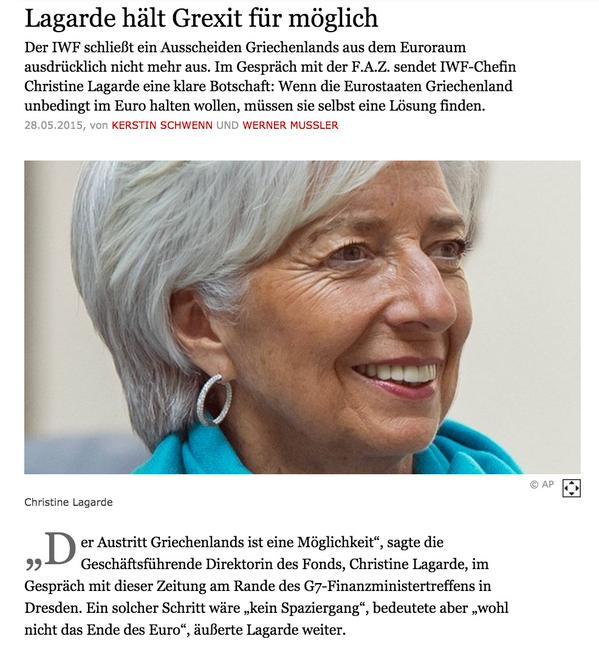 lagarde grecia fuori dall'euro