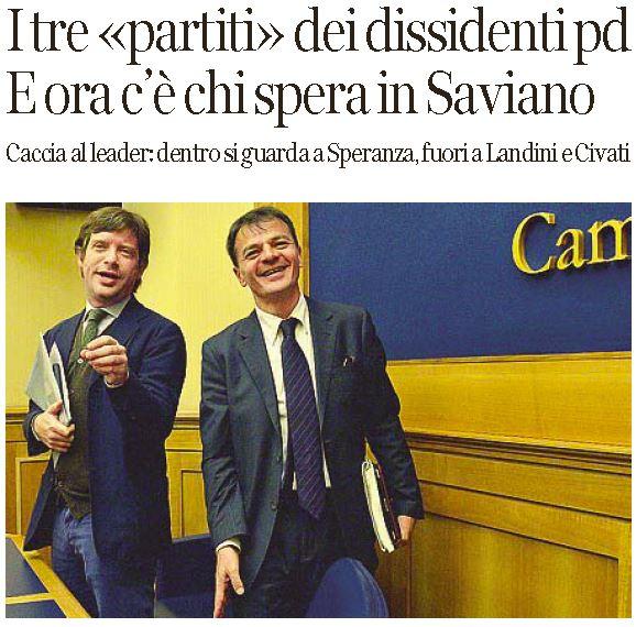 saviano dissidenti pd