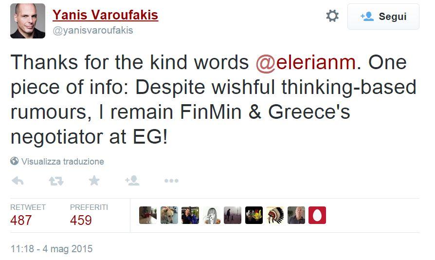 varoufakis tweet dimissioni