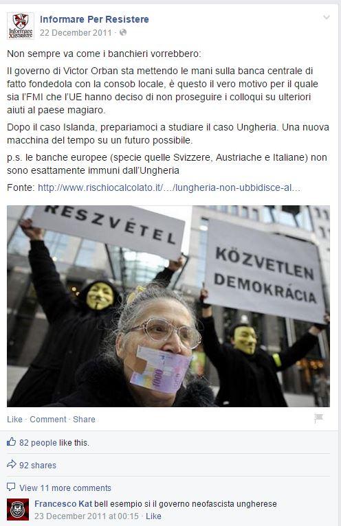 informare x resistere fascisti ungheria