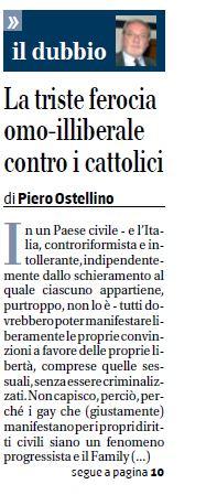 Le domande esistenziali di Piero Ostellino (fonte: Il Giornale)