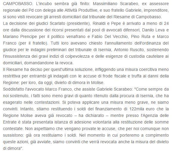 scarabeo isernianews