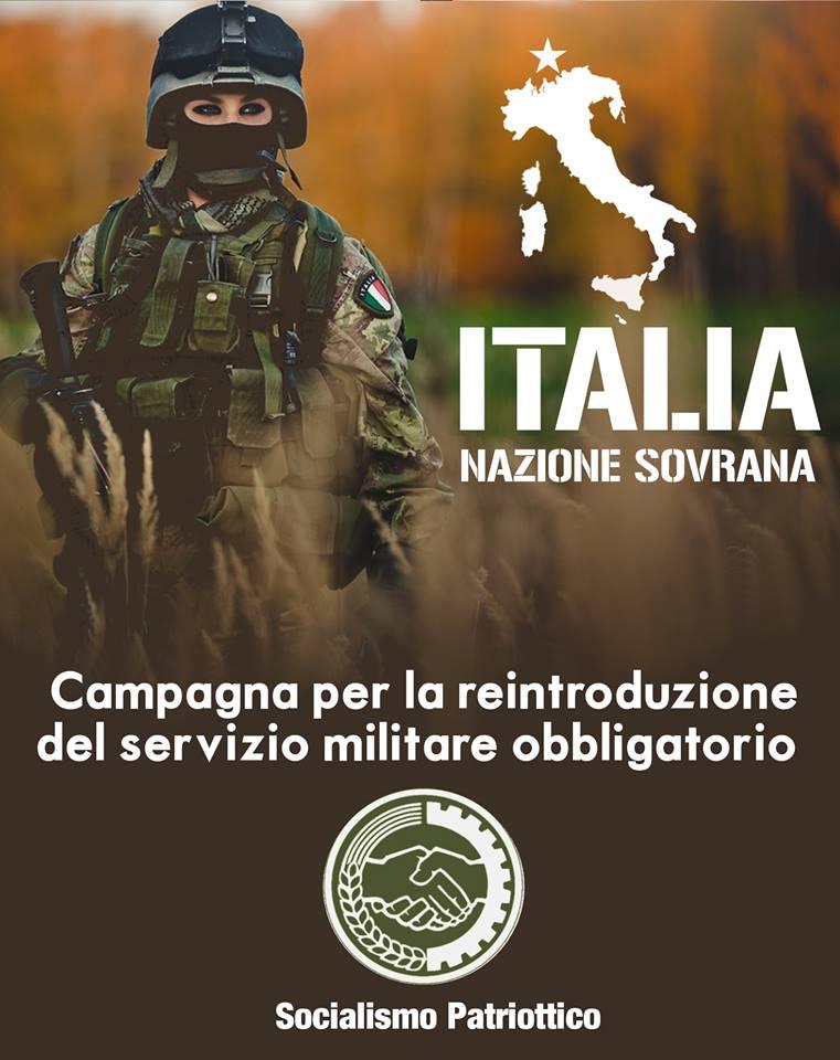 La campagna per il servizio militare obbligatorio di Socialismo Patriottico