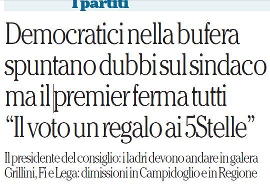 voto roma regalo 5 stelle