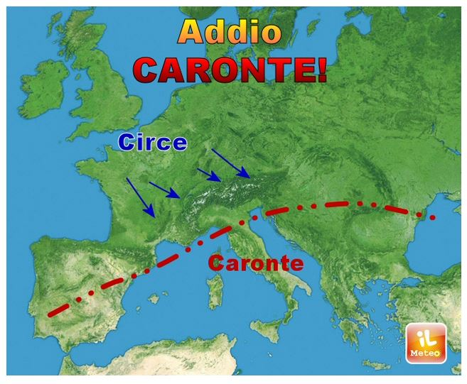 Arriva Circe raga (fonte ilmeteo.it)