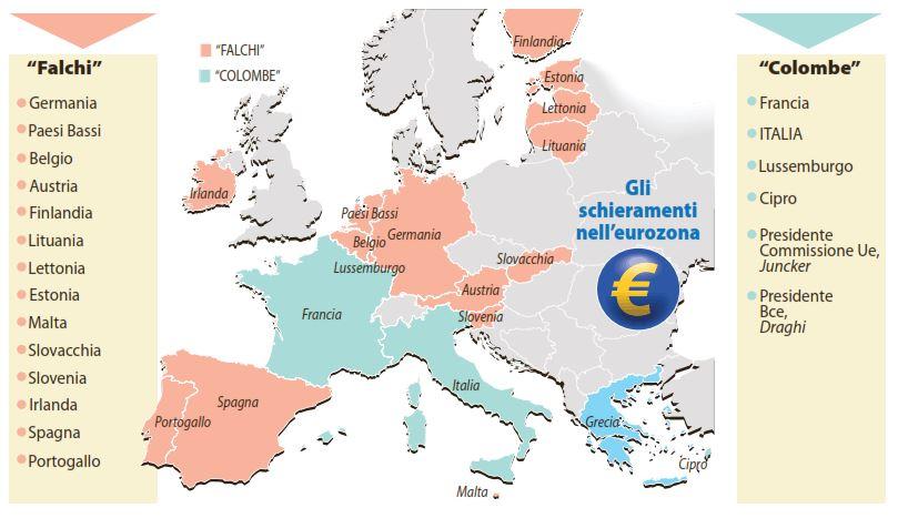 Falchi e colombe al tavolo della trattativa sulla Grecia (Repubblica, 13 luglio 2015)