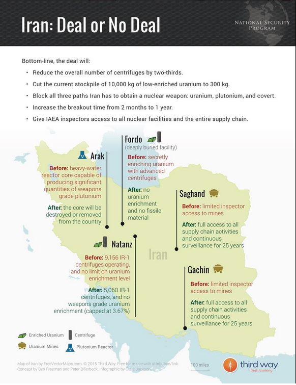 iran deal infografica mappa