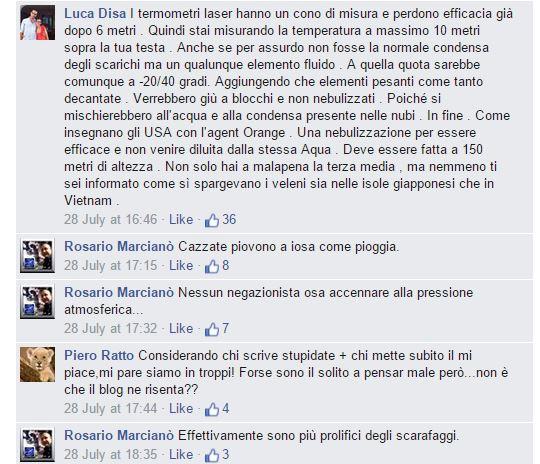"""Notate la """"notoria precisione"""" dei commenti di Marcianò"""