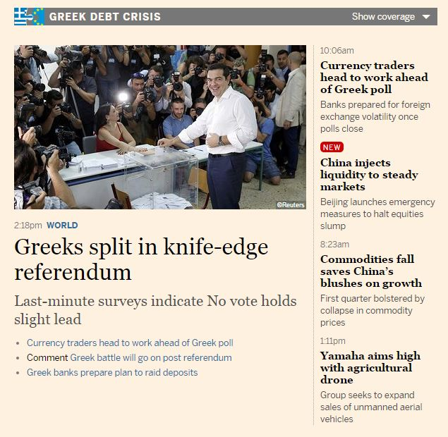 referendum grecia financial times