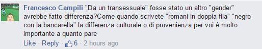 roma fa schifo trans commenti - 2