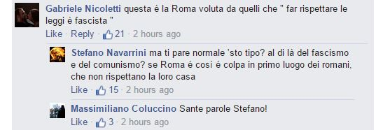 roma fa schifo trans commenti