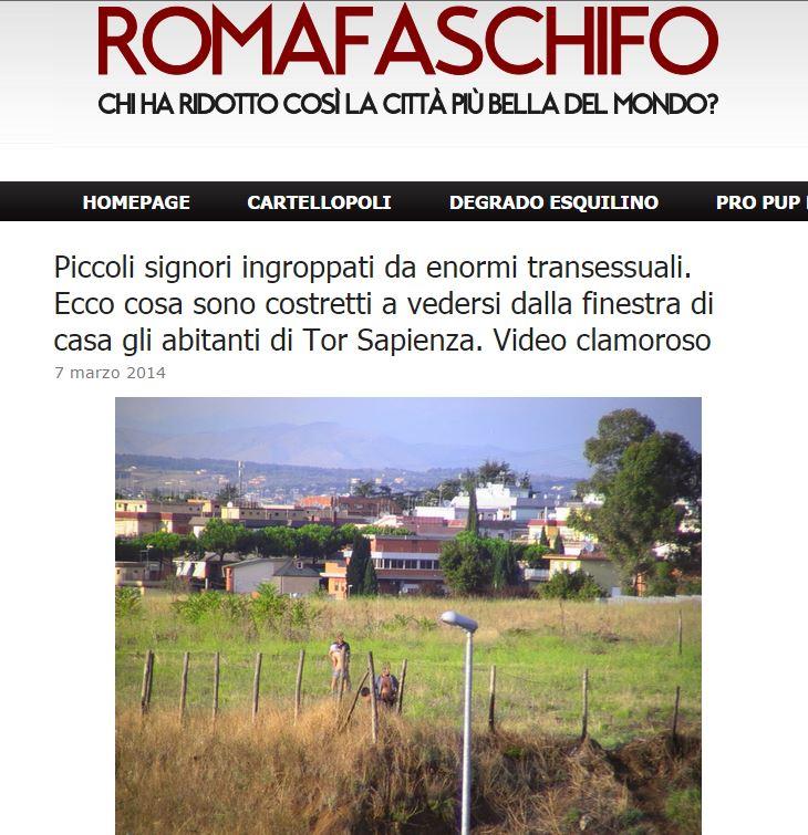 roma fa schifo trans