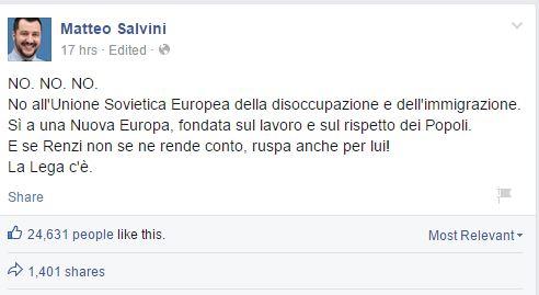 Euroruspe per Salvini