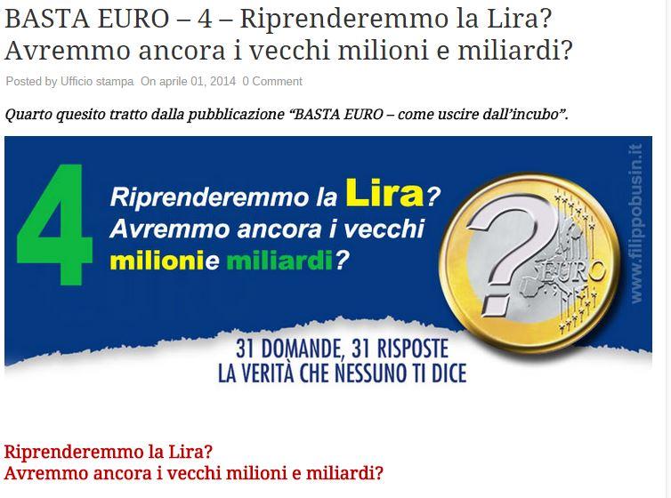 salvini uscire dall'euro