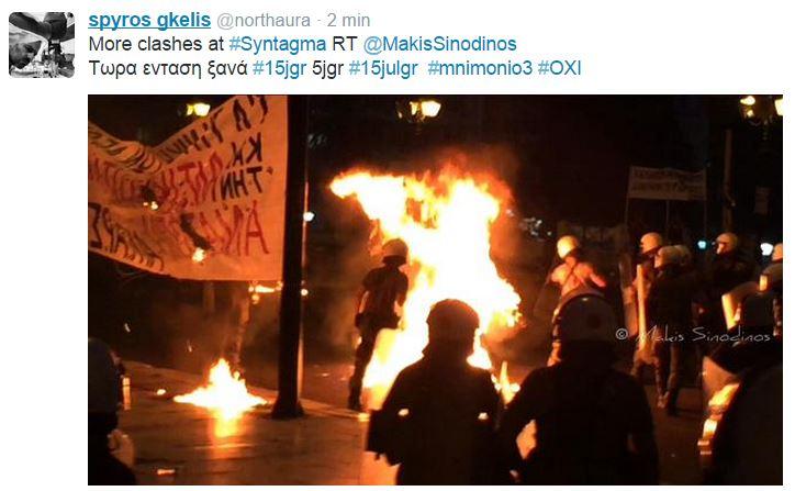 scontri atene syntagma