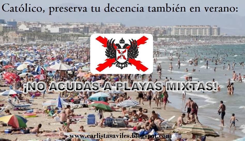 Il volantino diffuso dai cattolici tradizionalisti spagnoli (fonte: Facebook.com)