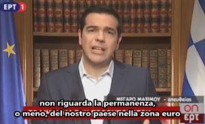 tsipras discorso referendum primo luglio