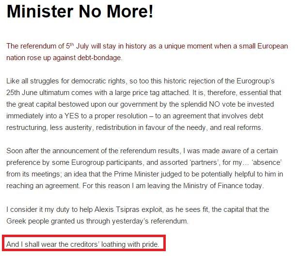 yanis varoufakis dimissioni