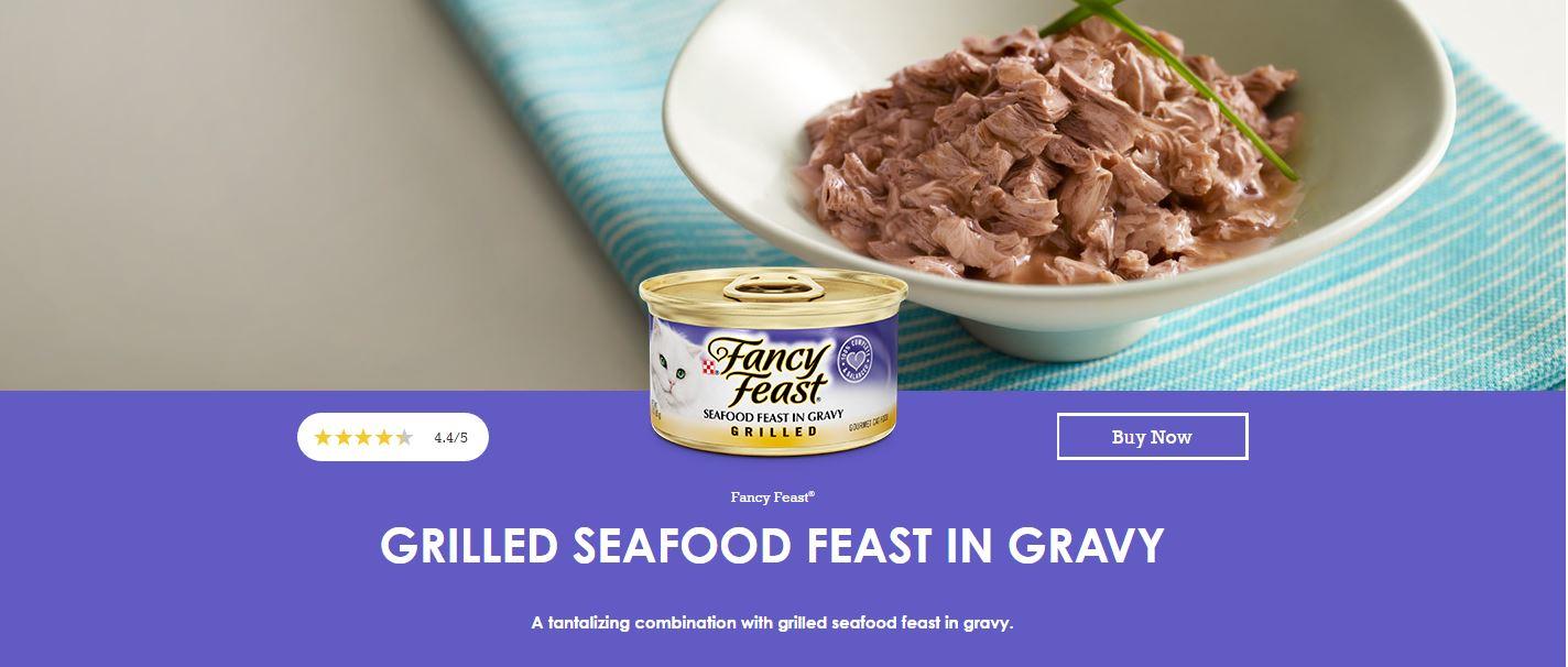 Uno dei prodotti della linea Fancy Feast a base di pesce