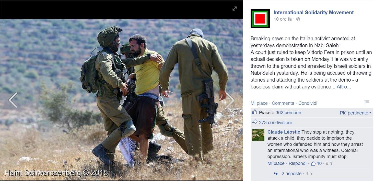 vittorio fera attivista arrestato
